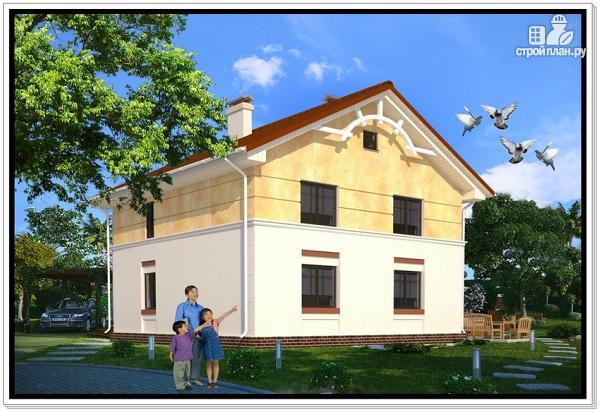 Фото 2: проект дачный дом из пеноблоков с балконом