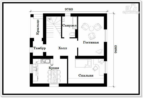 Фото 3: проект дачный дом из пеноблоков с балконом