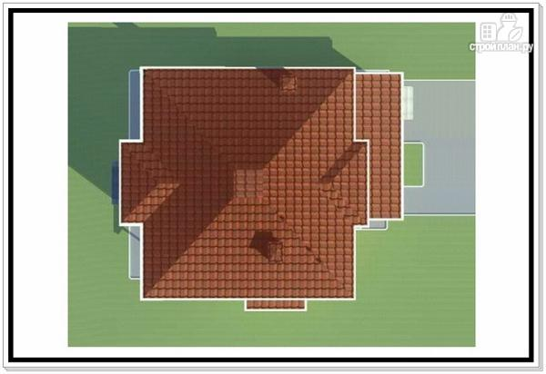 Фото 9: проект дом из пеноблоков с вальмовой крышей и балконом