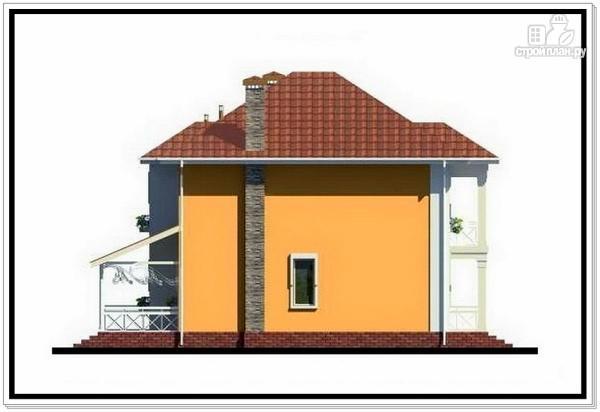 Фото 6: проект дом из пеноблоков с вальмовой крышей и балконом