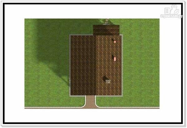 Фото 8: проект дачный двухэтажный дом из пеноблоков