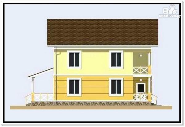 Фото 3: проект дачный двухэтажный дом из пеноблоков