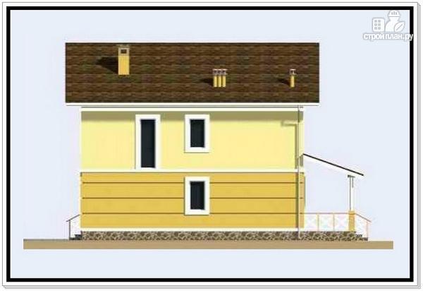 Фото 5: проект дачный двухэтажный дом из пеноблоков