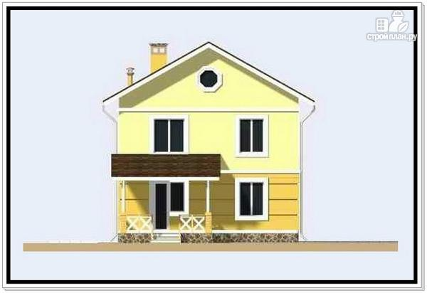 Фото 4: проект дачный двухэтажный дом из пеноблоков