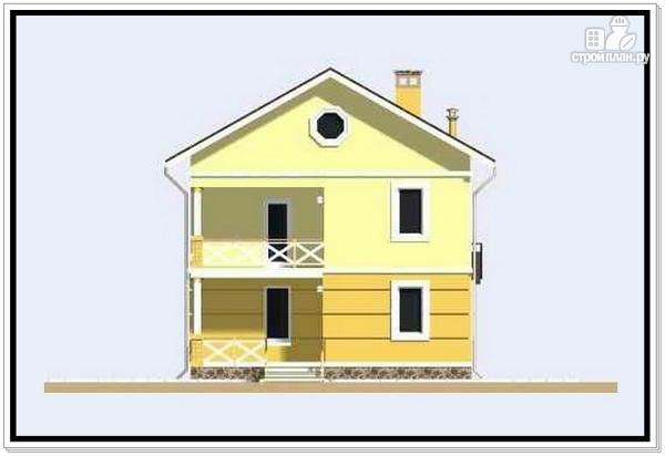 Фото 2: проект дачный двухэтажный дом из пеноблоков
