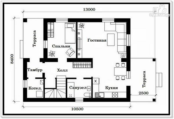 Фото 6: проект дачный двухэтажный дом из пеноблоков