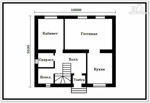 Фото 6: проект дом из пеноблоков 9 на 10 с 4хскатной крышей