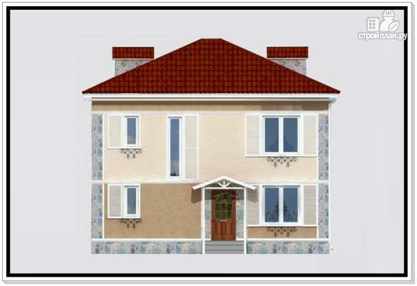 Фото 2: проект дом из пеноблоков 9 на 10 с 4хскатной крышей