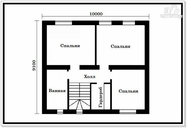 Фото 7: проект дом из пеноблоков 9 на 10 с 4хскатной крышей