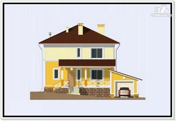 Фото 2: проект дом из пеноблоков 10 на 10 с гаражом