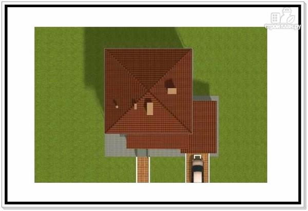 Фото 8: проект дом из пеноблоков 10 на 10 с гаражом