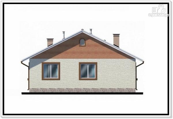 Фото 5: проект одноэтажный дом из пеноблоков с двускатной крышей