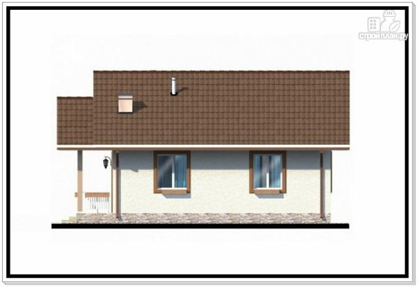 Фото 6: проект одноэтажный дом из пеноблоков с двускатной крышей