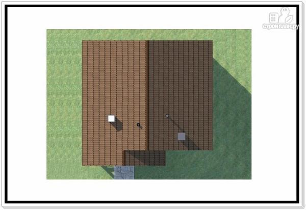 Фото 8: проект одноэтажный дом из пеноблоков с двускатной крышей