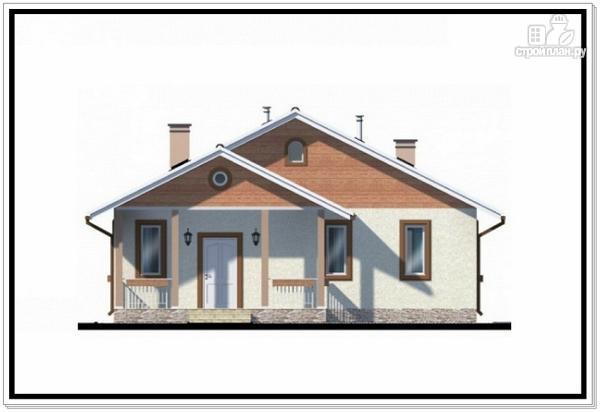Фото 3: проект одноэтажный дом из пеноблоков с двускатной крышей