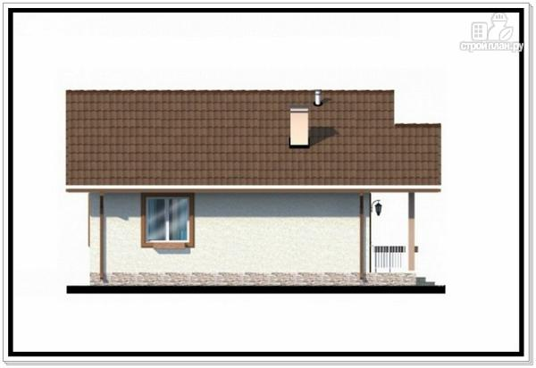 Фото 4: проект одноэтажный дом из пеноблоков с двускатной крышей