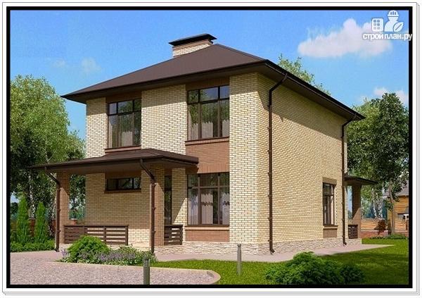Фото: проект 2 этажный дом из пеноблоков