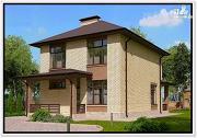 Проект 2 этажный дом из пеноблоков