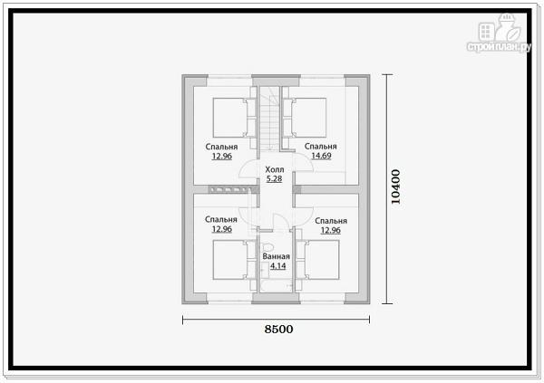 Фото 7: проект 2 этажный дом из пеноблоков