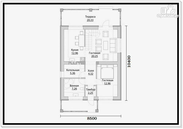 Фото 6: проект 2 этажный дом из пеноблоков