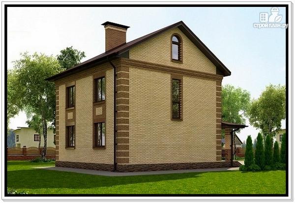 Фото 4: проект дом из газобетона с эркером