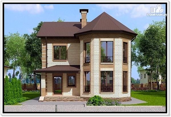 Фото: проект дом из газобетона с эркером