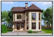 Проект дом из газобетона с эркером