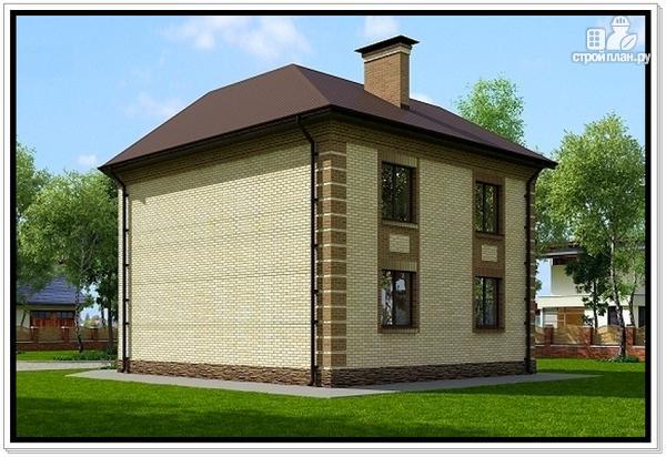 Фото 5: проект дом из газобетона с эркером