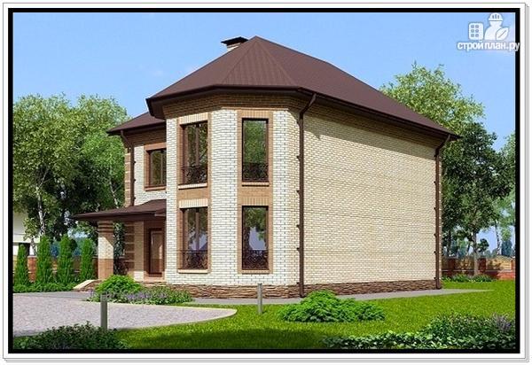Фото 2: проект дом из газобетона с эркером