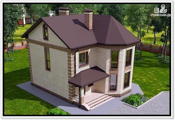Фото 6: проект дом из газобетона с эркером
