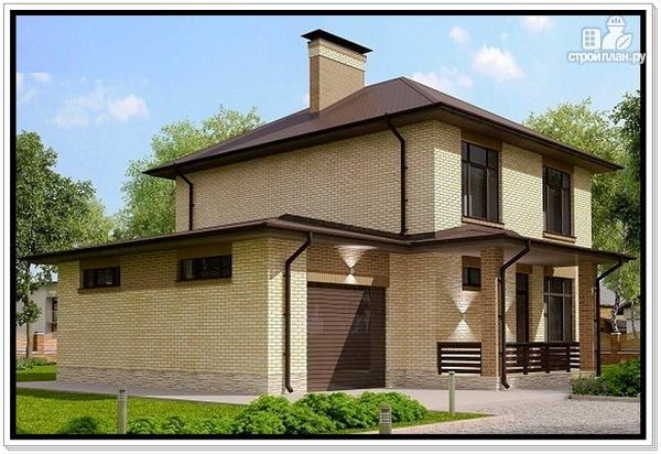 Фото 3: проект дом из газобетона с гаражом