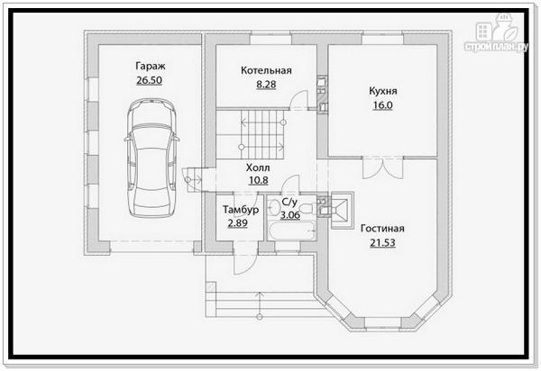 Фото 7: проект дом из газобетона с эркером и гаражом