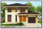Проект дом из газобетона 12 на 12