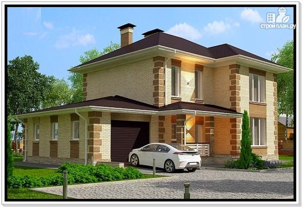 Фото 3: проект дом из газобетона с гаражом и террасой