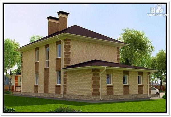 Фото 4: проект дом из газобетона с гаражом и террасой