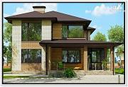 Фото: дом из газобетона с тремя входами