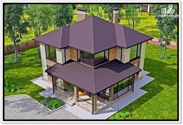 Фото 5: проект дом из газобетона с тремя входами
