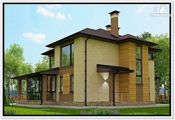 Фото 4: проект дом из газобетона с тремя входами