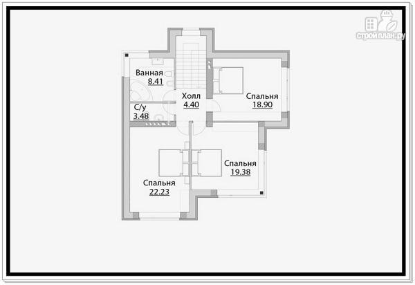 Фото 7: проект дом из газобетона с тремя входами