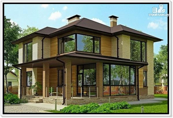 Фото 2: проект дом из газобетона с тремя входами