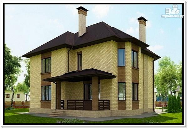Фото 3: проект красивый дом из газобетона