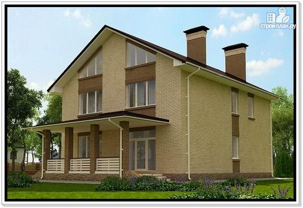 Фото 4: проект дом из газобетона с балконом