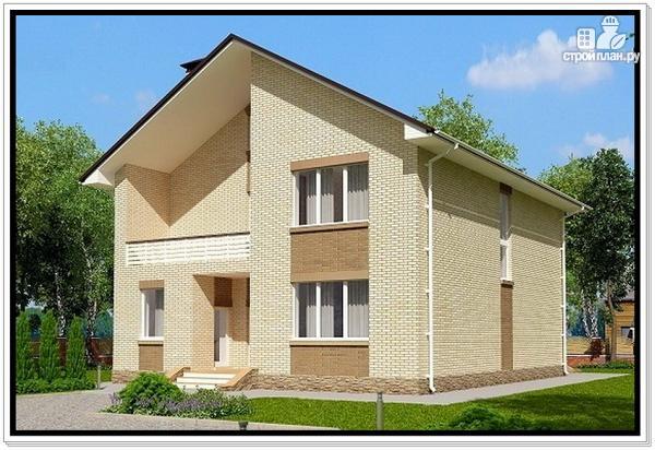 Фото 2: проект дом из газобетона с балконом