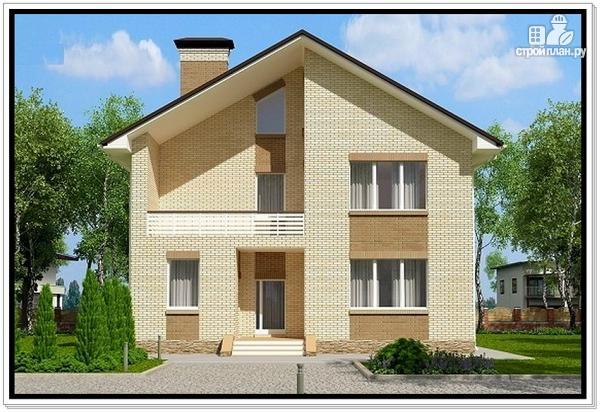Фото: проект дом из газобетона с балконом