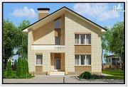 Фото: дом из газобетона с балконом