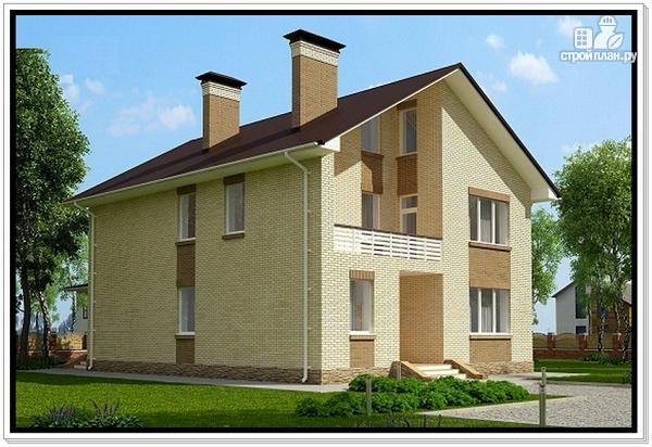 Фото 3: проект дом из газобетона с балконом
