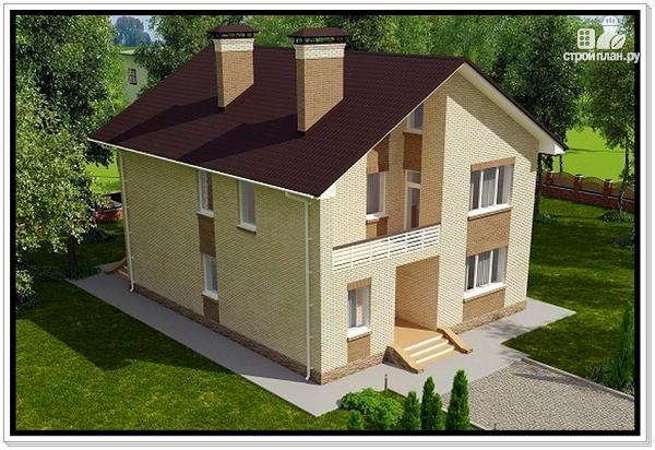 Фото 6: проект дом из газобетона с балконом