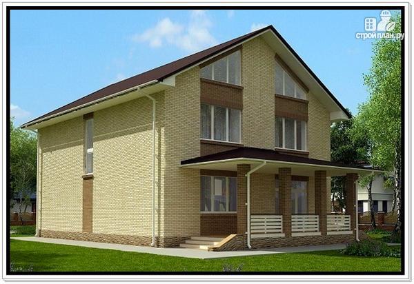 Фото 5: проект дом из газобетона с балконом