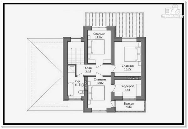 Фото 8: проект 2 х этажный дом из газобетона с гаражом