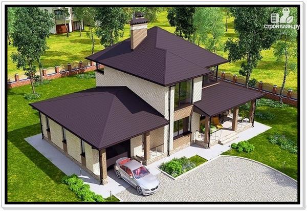 Фото 6: проект дом из газобетона с верандой